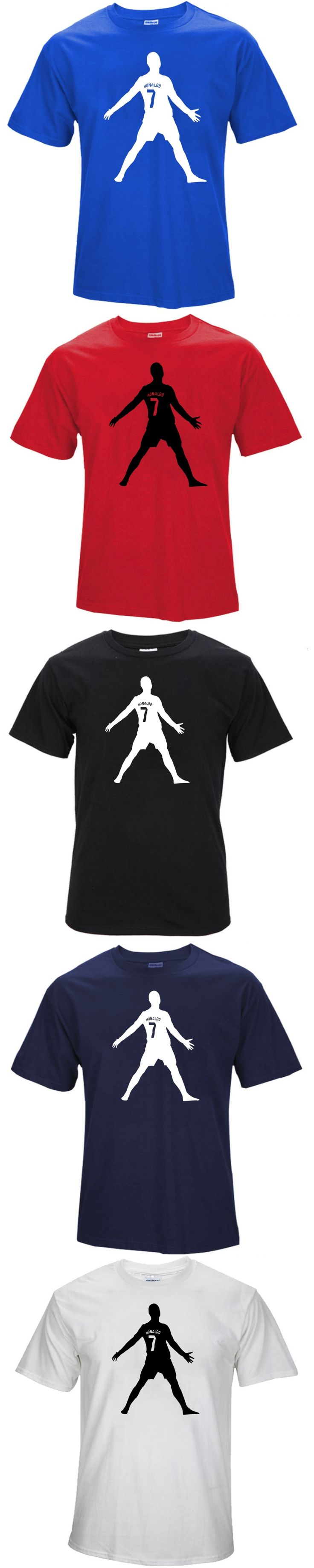 2017 summer C Lo Number 7 Free ball silhouette T shirt Real Madrid Cotton madred  T-shirt M172