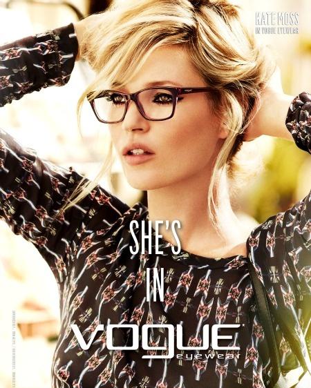 Kate Moss usa Vogue VO2714 #glass #oculos #KateMoss #fashion #topmodel #Vogue
