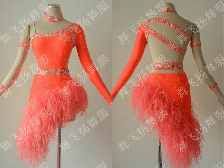 Tassel Latin Dance Dress Clothing Salsa Costume Ballroom Competition Skirt/ #flyer
