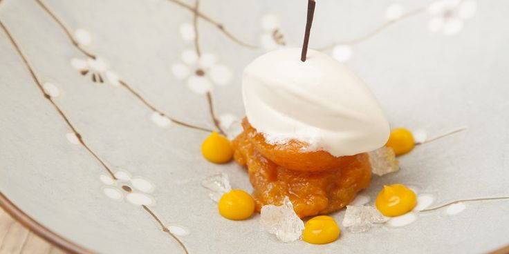 A delicate apricot dessert recipe by Steven Smith, including steps for a delightful apricot ice cream.