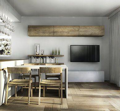 drewno we wnętrzu jadalnia wood inside the living room dining room architektura architektura wnętrz sztuka