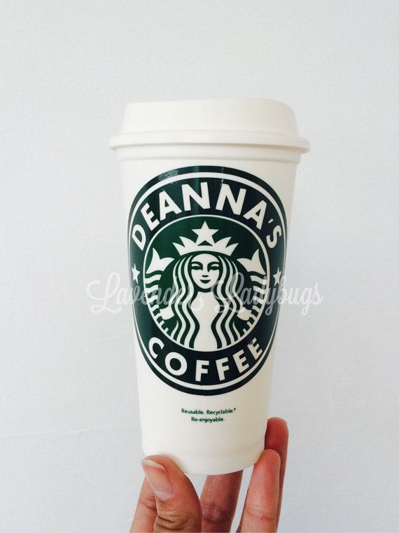 Personalized Starbucks cup  Starbucks cup  by LavenderLadybugsNY