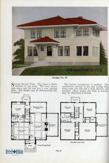 17 best images about 1800 39 s 1940 39 s house plans on for Spanish bungalow floor plans