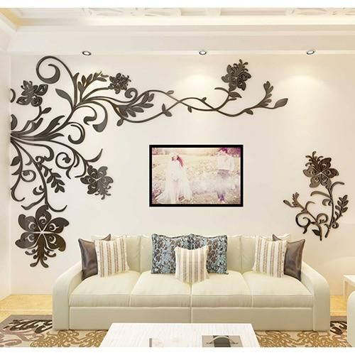 3d Wall Sticker In 2021 Wall Stickers Living Room Wall Decor Stickers 3d Wall Decor
