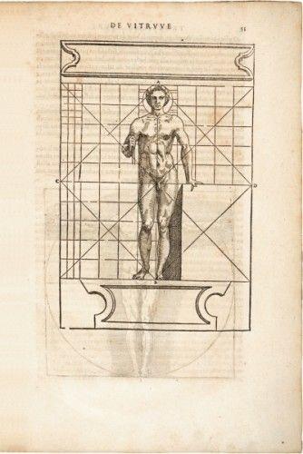 VITRUVIUS [POLLIO], Marcus. Architecture Ou Art De Bien Bastir.  Paris, Marnef and Cavellat, 1572. #french #history #antique