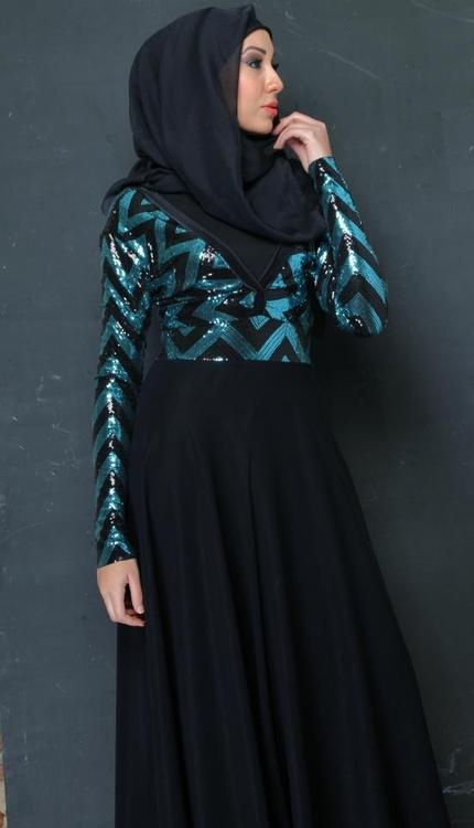 Dark Blue #Hijab Dress ❤ hijab style