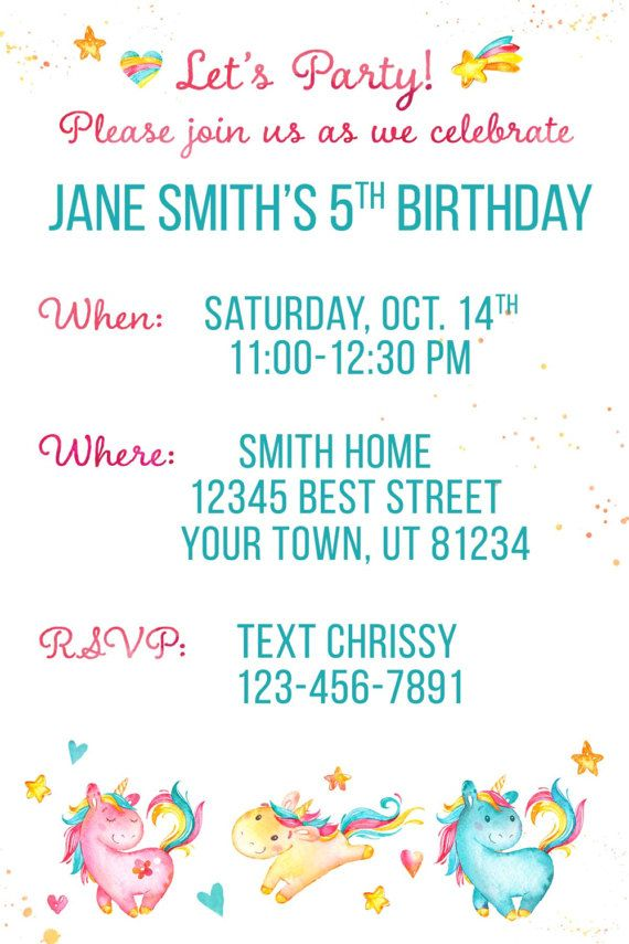 This is a custom birthday invitation perfect for your next party! Its cute, colorful, and totally customizable! This is a 4x6 jpeg, but I can re-size it to 5x7 or 6x7.5 (for Costco cards) for free. *I will have your card to you within 1-2 business days after purchase. *There are no