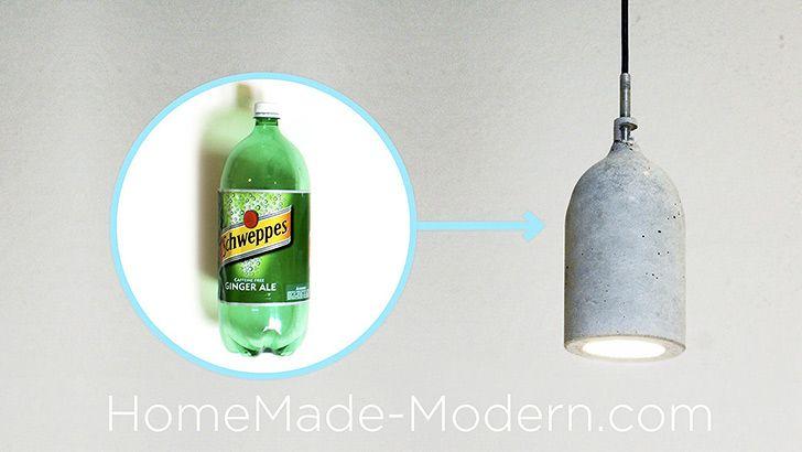 make a minimalistic l using concrete and a plastic