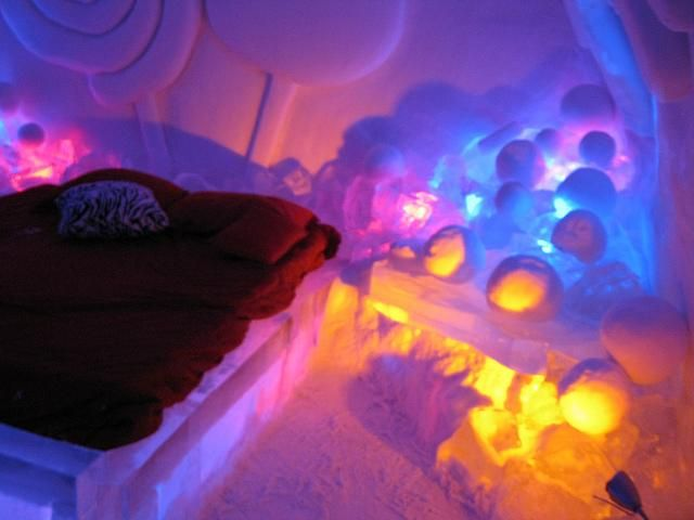 Architecture, Colorful Picture Blue And Yellow Black Color Picture Style And Decoration As The Picture Decoration As Your Style And Idea Ice Hotels In Canada Picture Example Bedroom Black ~ Colorful Style Of Ice Hotels In Canada That Decorate Well With The Best Concepts Like This Idea Today