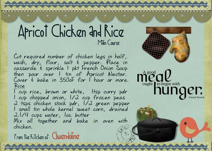Apricot Chicken & Rice