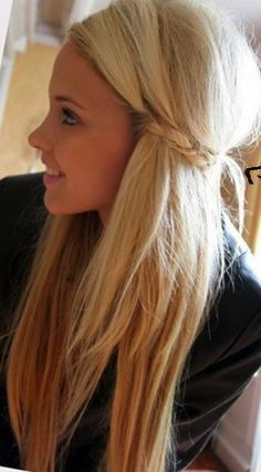 Pretty reverse ombré & cute braid
