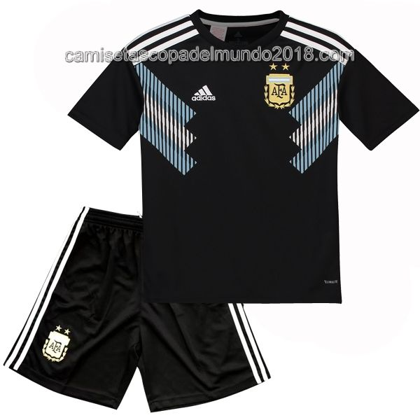 Segunda Camiseta Argentina Niños Conjunto Completo Mundial 2018 ... 261d7e72a5ba2