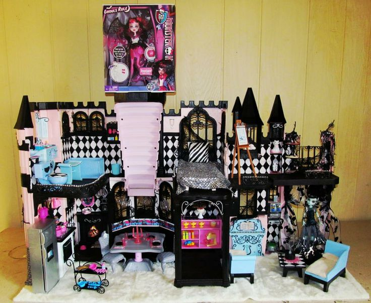 Monster High Lot Custom Ooak Doll House Classy Castle Furniture Food Accessories On Sale Now
