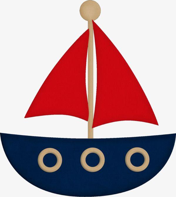 Desenho de Barco a Vela de decoração simples, Desenho Pintado à Mão, A Decoração, O BarcoImagem PNG