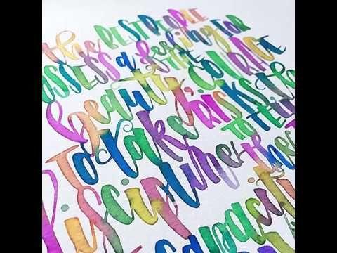 L'artiste américaine Jennifer Song Kim utilise de l'aquarelle pour former des lettres mais aussi des phrases. Abonnez-vous à notre chaîne ! Plus de créations...