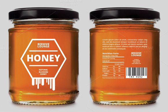 Honey Label Design Template Very organised and named layers, fully editable. Easy changeable color, texts, background, etc. Logo included ! Files included: .ai .eps Free Google Font Used: