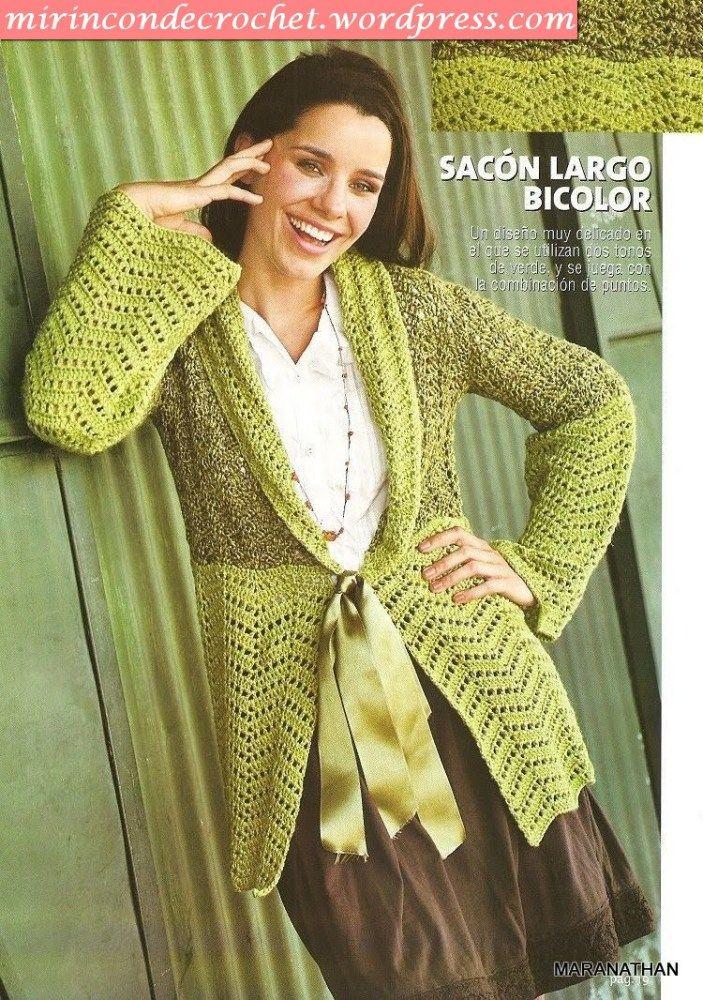 93 besten Crochet Sweaters, & Jackets Bilder auf Pinterest ...