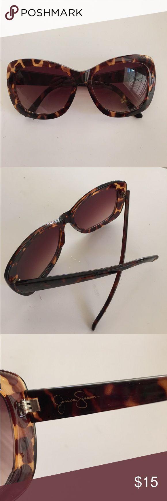 Jessica Simpson Tortious Shell Sunglasses Tortious shell Sunglasses. No case. Little wear. Jessica Simpson Accessories Sunglasses