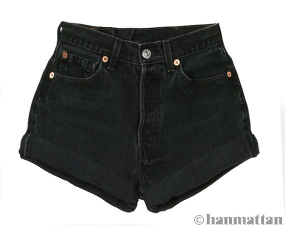 ALL SIZES TURN Vintage Levi highwaisted denim shorts by Hanmattan, $26.00