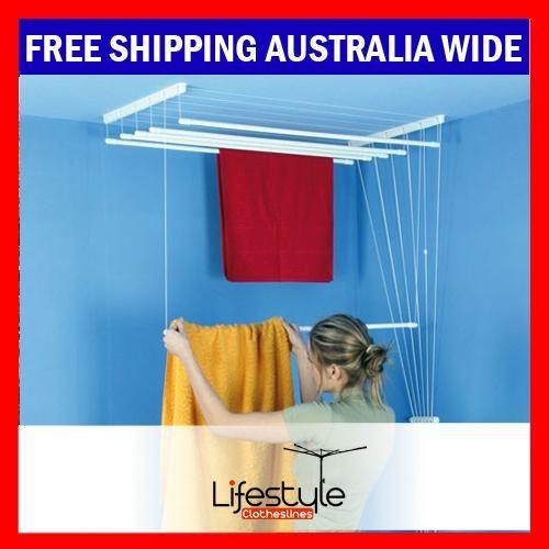 $114 Laundry Airer 140W x 55D = 8.4mtr drying space m.ebay.com.au/itm/151130003796?cmd=VIDESC