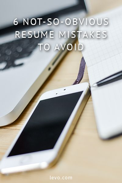 Here are 6 not-so-obvious resume mistakes to avoid! Be sure to always proofread!