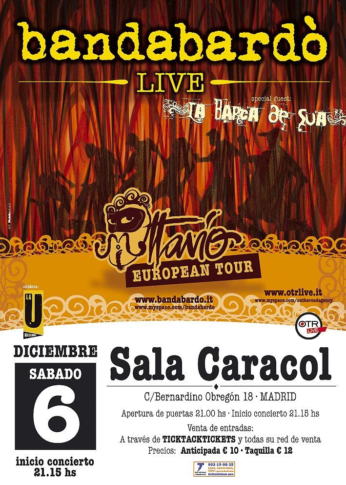 Bandabardo, Sala Caracol, Madrid 6/12/2008