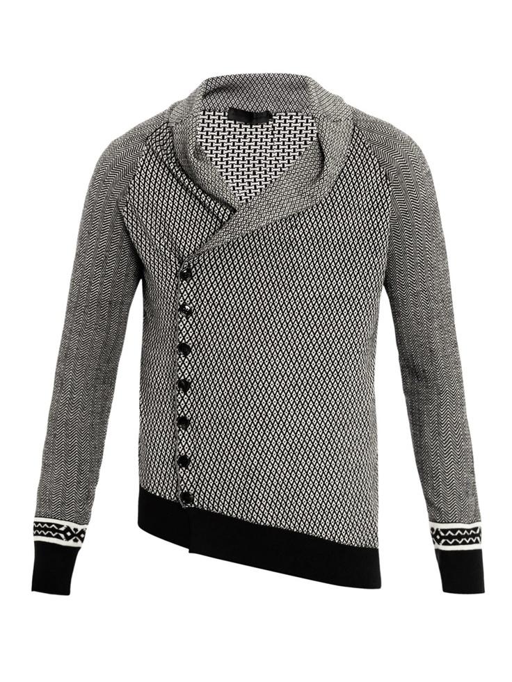 Alexander McQueen / Mini diamond knitted cardigan