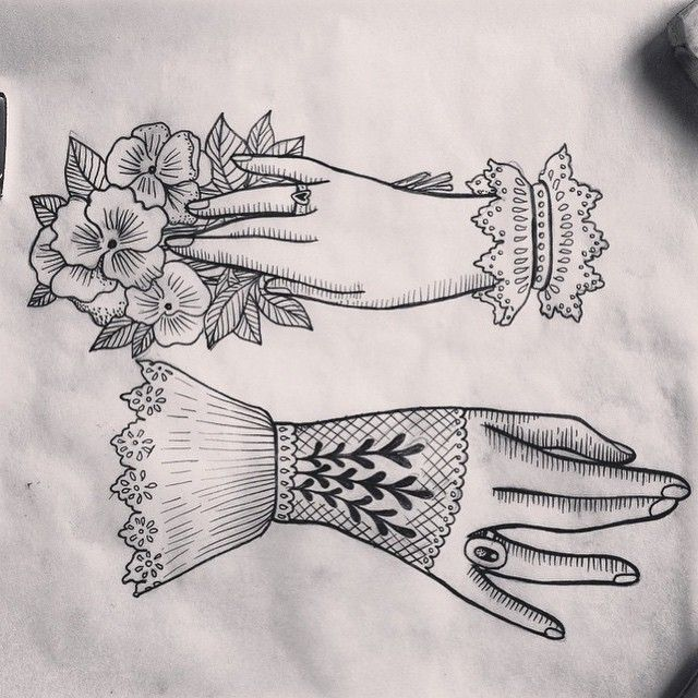 victorian hands- nice detailing in line work. I think this is the style I most like.
