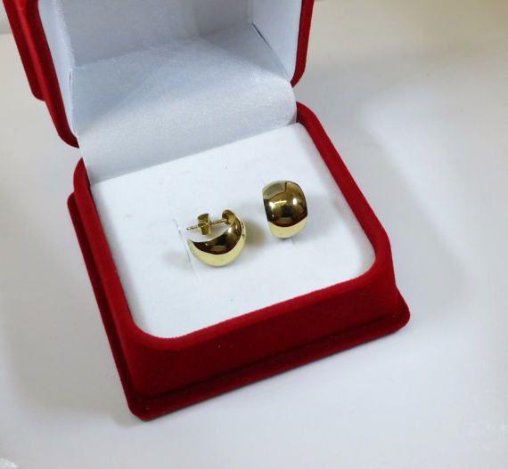 Ohrringe Gold 333 Ohrhänger Halbcreolen edel von Schmuckbaron