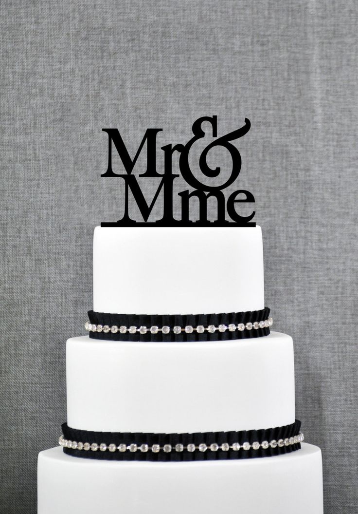 New to ChicagoFactory on Etsy: Mr and Mme French Wedding Cake Topper in your Choice of Colors Elegant Wedding Cake Topper Unique Wedding Cake Topper- (S092) (15.00 USD)