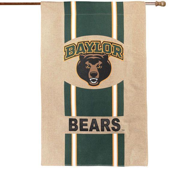 """Baylor Bears 28"""" x 44"""" Burlap House Flag - $34.99"""