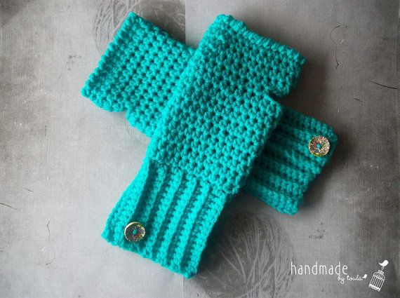 Crochet fingerless mittens adult size