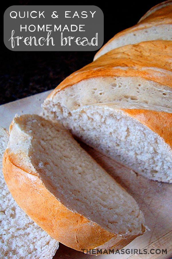 Quick & Easy Homemade French Bread - Even if you have never made bread before you can make this! SO EASY!