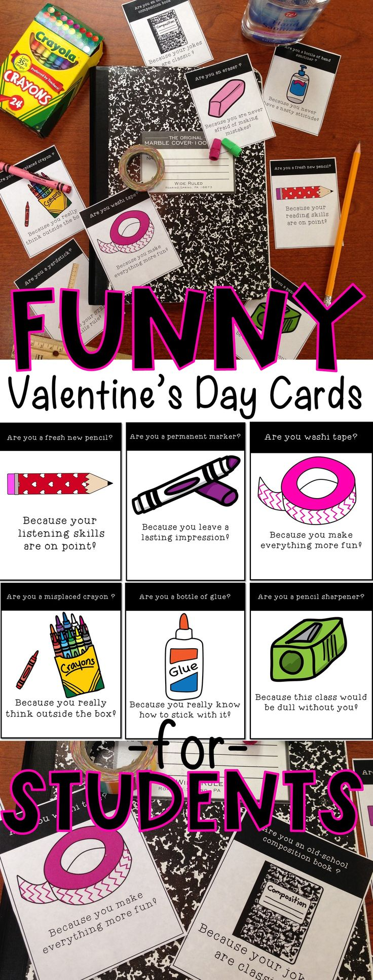 Funny Valentine's Day Cards for Students, Geeky Pickup Lines, Nerdy Pickup Lines, Student Valentines from Teachers, Funny Student Valentine Cards, Middle School Valentine Cards, High School Valentine Cards