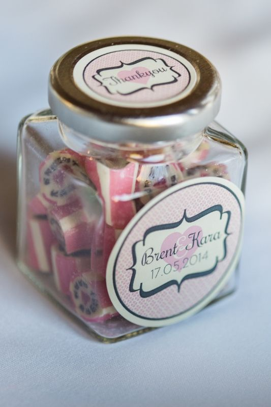 Pretty pink favours - at Chateau Dore Winery www.kokophotography.com.au
