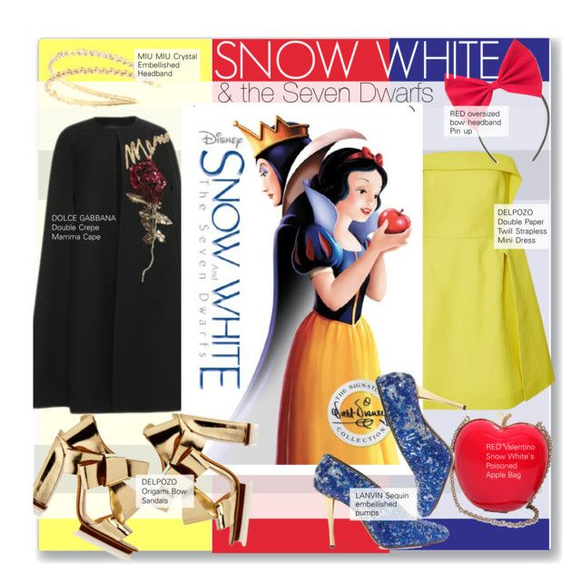 Snow White and the Seven Dwarfs by kusja on Polyvore featuring Delpozo, Dolce&Gabbana, Miu Miu, Lanvin, RED Valentino, women's clothing, women's fashion, women, female and woman