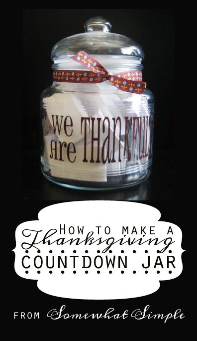 Cultivate an 'Attitude of Gratitude' with this clever Thanksgiving countdown from Somewhat Simple!