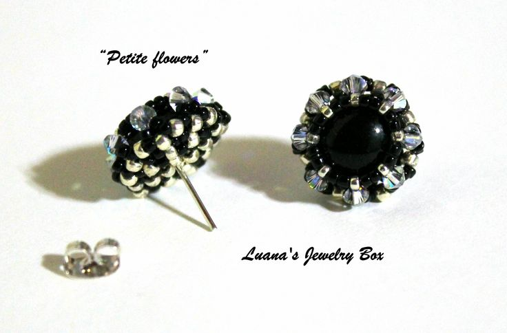 DIY Beading tutorial - Petite flower post earrings with round seed beads...