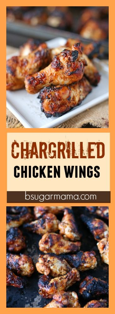 Chargrilled Chicken Wing: One of the easiest grilling recipes for the summer! #bbq #grill #chicken