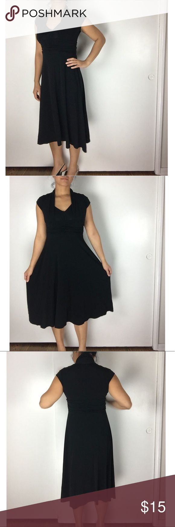 Vintage Hepburn Dress by Luly K Vintage Hepburn dress by Luly K. Used a few times but in good condition! I always felt like Audrey Hepburn when I wore it. See last photo for front detail design. Model is 5'6 and 140 lbs for reference. Stretchy material. Luly K Dresses