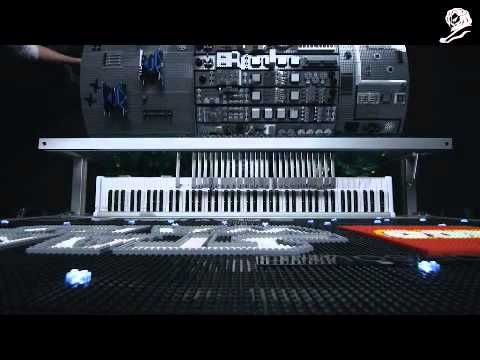 """Cannes Lion 12 - Gold Direct - Lego """"Builder of sound""""  Lego pieces placed on an barel in a way that turning the barel the pieces enter in contact with a mechanic piano and play the star wars song"""