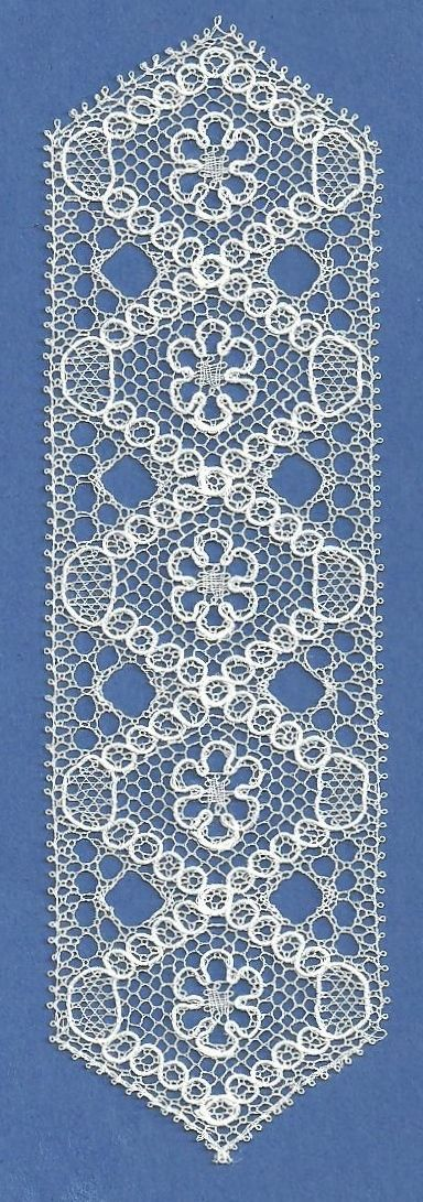 Tønder Lace (All Levels) -- Class is Full. Coralville Convention 2015: Tønder is a fine point-ground lace from Denmark. The Copenhagen hole and intricate gimp movements are among the many things that make this lace both fascinating and beautiful. Pattern choices range from beginner pieces to advanced and will be chosen by the student and teacher. Students will progress at their own pace so they come and enjoy learning about this beautiful lace. 12 hrs. P407 (Bobbi Donnelly )