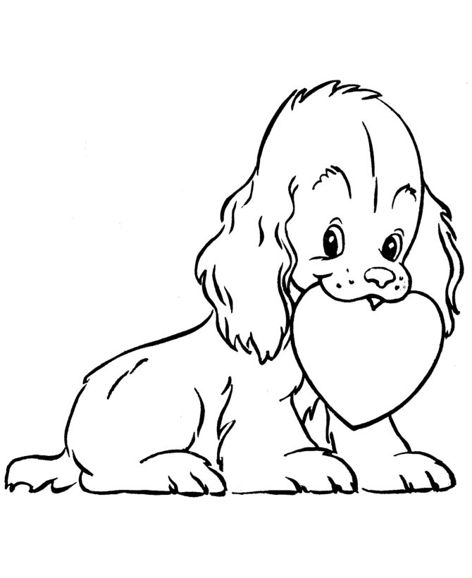 valentines day kids coloring pages puppy dog valentine coloring pages