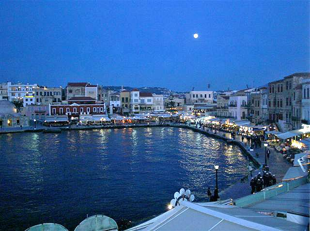 Chania (by night), Crete