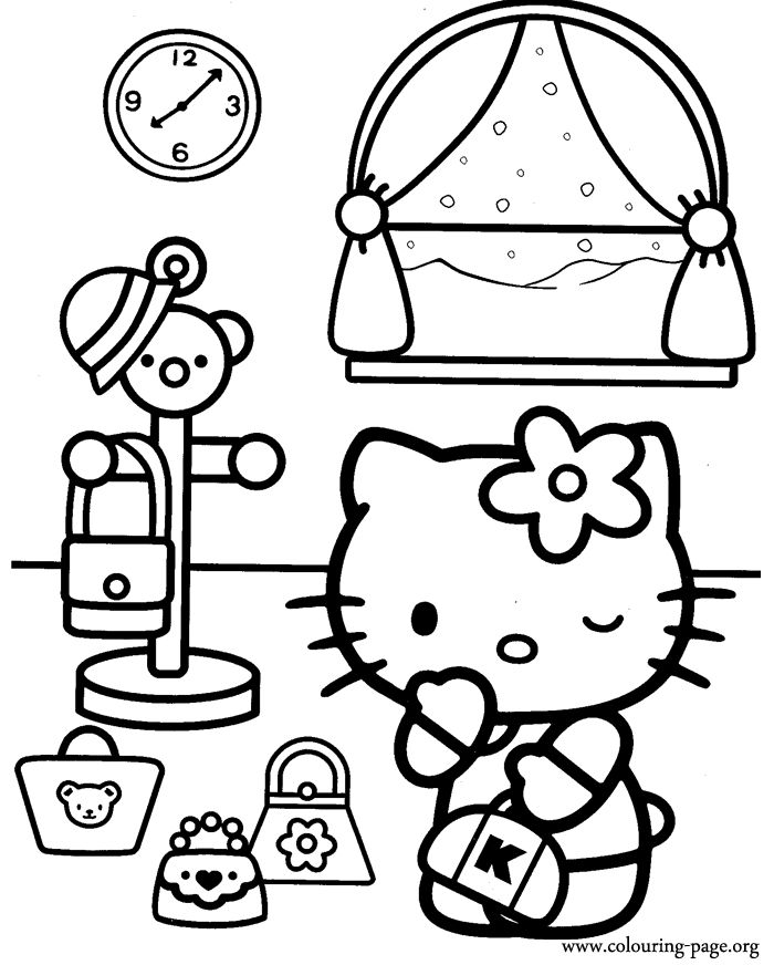 378 Best HELLO KITTYCOLOR PAGES Images On Pinterest