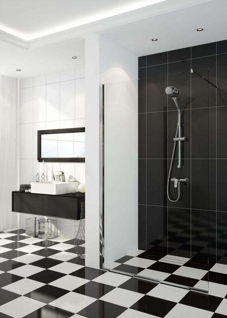 Black and white bathroom, Deante.
