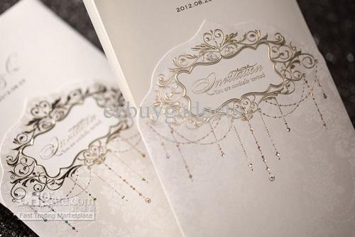 Luxury Ivory Invitations Wedding Engagement Invitation Cards Floral Pattern 50pcs