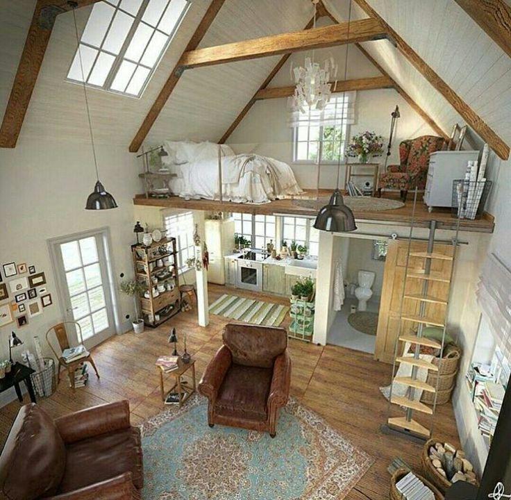 Wohnen, Ruhestand, Dachboden, Art Deco, Offene, Kleine Räume, Wohnungen,  Zuhause, Galerie