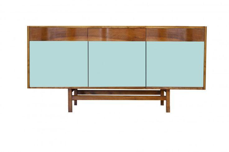 """Pastelowa komoda """"Gropius"""" Color od New Mono Design, delikatny błękit, więcej na: www.newmonodesign.pl"""