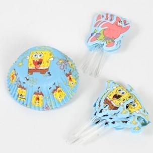 Maak vrolijke SpongeBob SquarePants cupcakes met dit handige combo pack van Wilton.